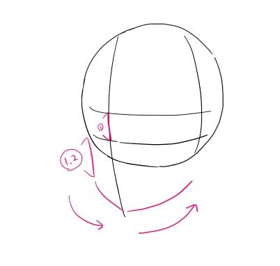 イラスト講座斜めを向いた顔の描き方 イラスタート