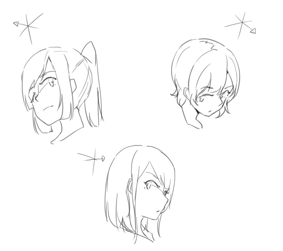 イラスト講座様々な角度の顔の描き方顔 イラスタート
